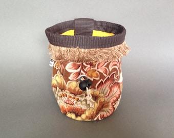 Vintage style floral chalk bag