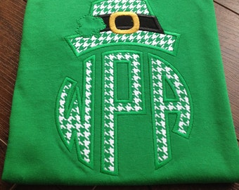Personalized Irish St. Patrick's Day t-shirts Embroidered Applique T-Shirt Childrens t-shirt monogram girls shirt St. Pattys Day shamrock