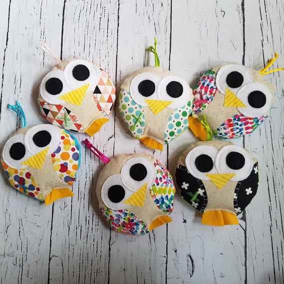 Ouchie bag / ice pack, Bird, bridie, owl, party favor, wholesale, cold pack, heat pack, boo bag, easter basket gift