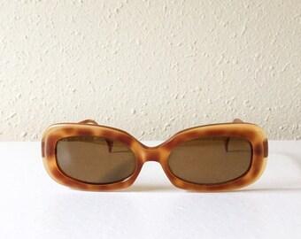 Vintage, Women, Oscar de la Renta, Designer, Tortoise Shell, Sunglasses