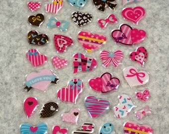Mixed Cute PVC Ribbon Love Stickers