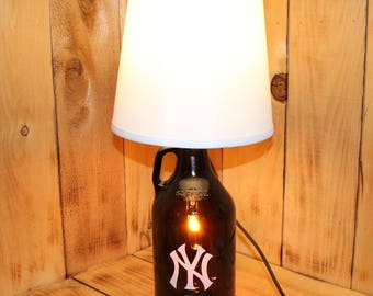 New York Yankees Baseball Beer Growler Lamp with Night Light with shade
