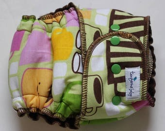 mellow out-serged *Petite fit* hybrid diaper