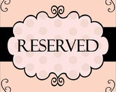 Reserved Listing for Janet