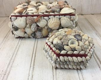 Vintage Seashell  Decorative Box Set