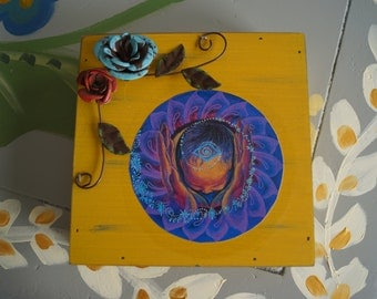 Into These Hands Box - Midwife, Doula, Goddess, Birth Art
