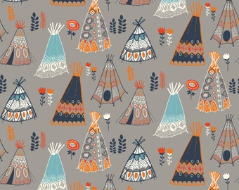 Contoured changing pad cover, Teepees, gender neutral nursery