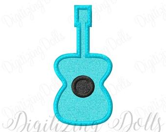 Guitar Applique Machine Embroidery Design 4x4 5x5 6x6 5x7 8x8 9x9 6x10 INSTANT DOWNLOAD