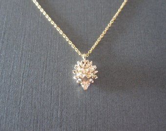 Gold Hedgehog Necklace