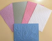 EMBOSSED CARDSTOCK 41/2 x 61/2 inches 5 pack Mixed Sheets 3