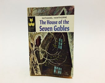 BIRTHDAY SALE Vintage Classics Book The House of the Seven Gables by Nathaniel Hawthorne 1966 Paperback