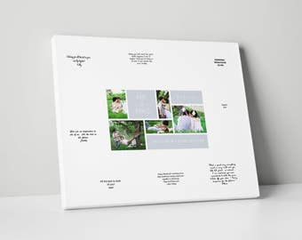 Canvas Guest Book, Various Sizes, Wedding Guest Book Alternative, gb0078