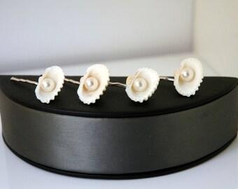 Beach Wedding Hair Pins, Sea shell Headpiece, Beach Wedding Headpiece, Bridal Hair Pins, Nautical Beach Hair Accessory  Mermaid Beach Hair