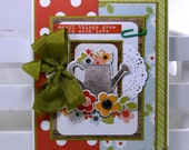 Small Things Grow Big With Love All Occasion Greeting Card Polly's Paper Studio Handmade