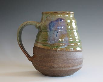 Extra Large Mug, 31 oz, unique coffee mug, handmade ceramic cup, handthrown mug, stoneware mug, wheel thrown pottery mug, ceramics