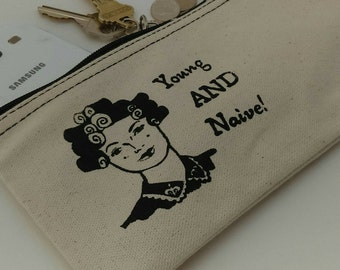 Queen Amidala Inspired Cosmetic Case - Zipper Pouch, Clutch Purse