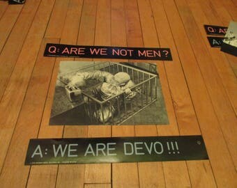 DEVO Original Postcard and Stickers For Debut Warner Brothers LP UNUSED 1970's