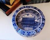 RESERVED...Blue and White US Air Force Academy Souvenir Dish, Cadet Chapel, Colorado, Vintage Souvenir Plate, English Chintzware