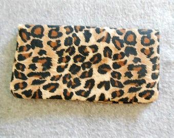 Fabric Checkbook Cover - Cheetah Print
