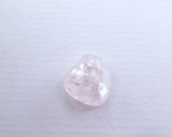 Icy Pink Morganite Micro Faceted Cabochon. Natural Gemstone. Rare Material. Freeform Facet Cab. 1 pc 4.42cts. 11x10 mm (MO105)