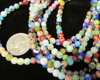 Millifeori 6mm round bead strand