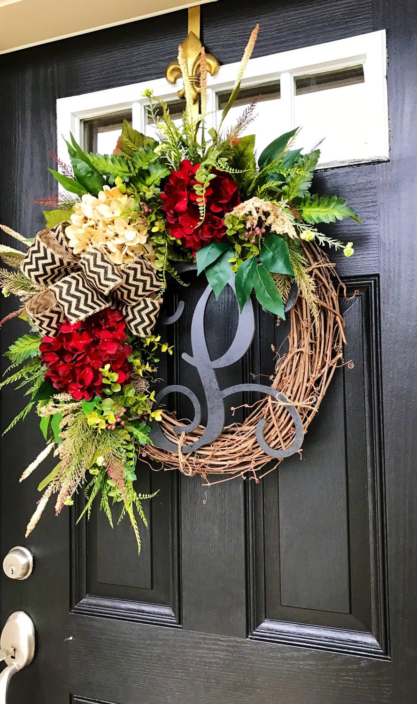 winter wreaths for front door year round wreath by fleursdelavie. Black Bedroom Furniture Sets. Home Design Ideas