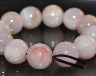 12 Pieces 9mm Precious Gems~Natural PINKISH LAVENDER KUNZITE Round Beads - K1082