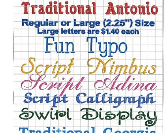 Add A Name, Letters, Fonts, Names, Personalize, Monogram, Initials, Customize, Embroidery Fonts, Order Number Of Letters In Name And Set Up