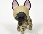 Hand Sculpted Striped hyena Derp Figurine
