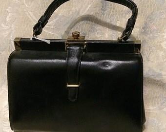 Black Box Purse. Vintage. Chic