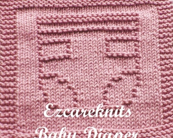 Knitting Cloth Pattern - BABY DIAPER - PDF