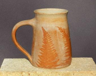 Big Coffee Mug,24oz.Handmade, Oversized Stoneware,Pottery Mug, Microwave friendly,Wheel Thrown,Woodland,Country Kitchen decor,Nature,Cabin