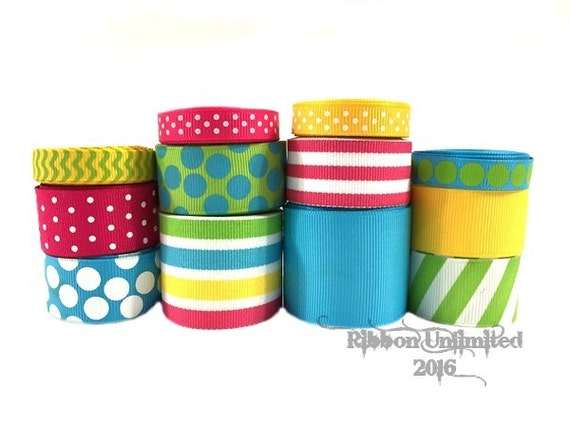 24 Yds FRUITPUNCH  wholesale grosgrain ribbon collection   Low Shipping Cost