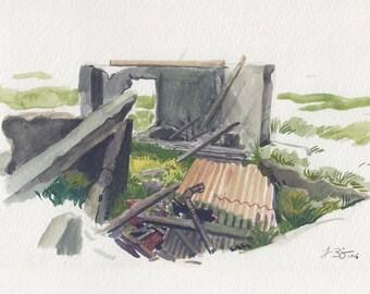 Farmhouse Ruins, Iceland