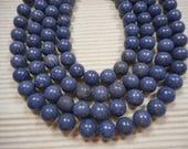 12mm Blue Sponge Coral Round Gemstone Beads 15 in. strand