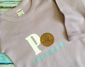 P is for... Personalized Name Onesie