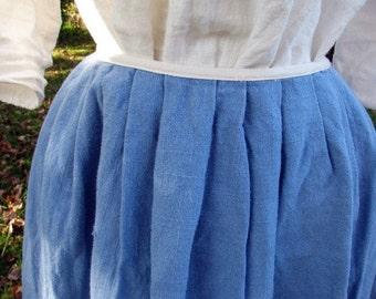 Ladies petticoat, skirt, colonial, 18th century, linen, custom made