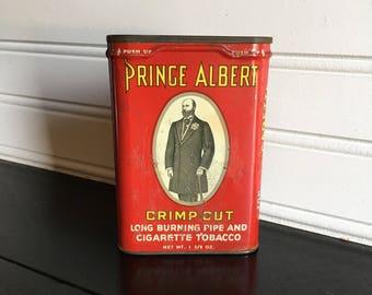 Vintage Prince Albert Tin Can Tobacciana Advertising Tin