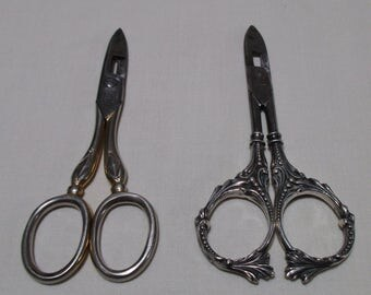 Buttonhole Scissor - Choice of One from two listed - Vintage - Both Marked Henckels Germany - CS11FN
