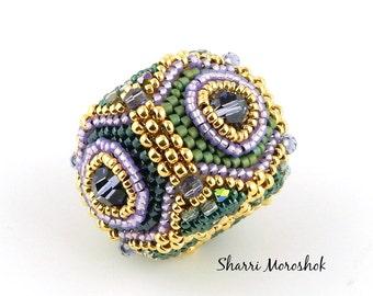 Sale - Reduced 25% - Jewel Box Beaded Bead