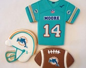 Professional Football Team Cookies