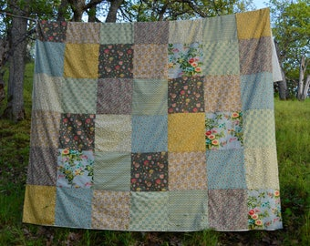 Queen Size Duvet Cover, Handmade in the USA, The Earth Laughs in Flowers