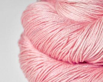 Withering pink cherry blossom - Merino/Silk Fingering Yarn Superwash
