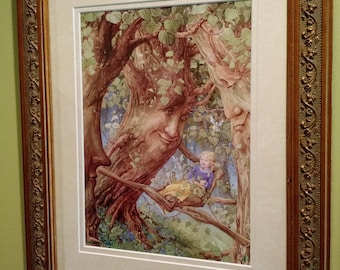 Enchanted Forest Signed Print in an 11x14 Decorative Gold Frame