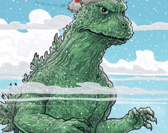 GODZILLA Holiday card