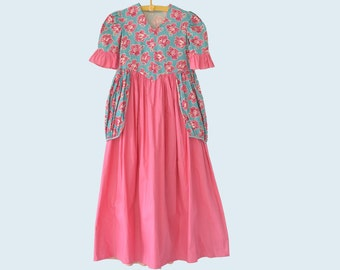 1930s Handmade Feedsack Floral Child's Dress