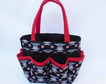 Nurse bag // Nurse EKG Print // Craft Organizer // Makeup Organizer // Caddy // Teacher Tote // Nurse Tote