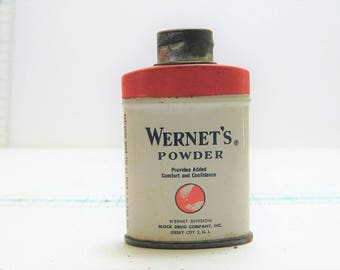 Vintage-Advertising WERNET'S-POWDER Sample Tin