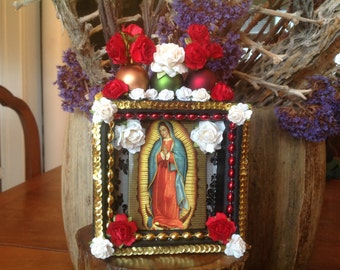 Our Lady of Guadalupe Nicho. Shrine Piece.