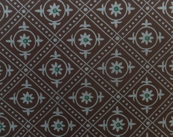 Vintage Art Deco The Monterey Union Made In USA 1091 Birge Roll Floral Wallpaper